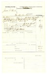 1878 June 27: Voucher, U.S. v. James L. Harris, violation internal revenue laws; includes cost of mileage, feeding one prisoner, and one guard; Joseph Martin, guard; served by H. Collative, U.S. deputy marshal; E.B. Harrison, commissioner