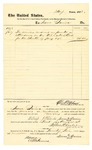 1878 August 1: Voucher, to Isaac Quinn, for services as janitor in U.S. district court; D.P. Upham, U.S. marshal; Stephen Wheeler, clerk; C.M. Barnes, witness of signatures