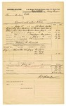 1878 July 16: Voucher, U.S. v. Beamus Bershears, assault with intent to kill in the Indian Country; includes cost of mileage, feeding one prisoner, and travel expenses; Ike Lewis, One Becky, and One Green, witnesses; served by J.W. Searle, U.S. deputy marshal; William R. Kendrick, posse comitatus; Zara L. Cotton, commissioner