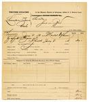 1878 July 08: Voucher, U.S. v. Leander Zane, larceny; includes cost of warrant; served by D.P. Upham, U.S. marshal