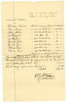 1878 July 18: Voucher, U.S. v. William Secrest, larceny; U.S. v. Mary Hewey, violation internal revenue laws; U.S. v. Jane Thompson, introducing spirituous liquors in the Indian Country and violation internal revenue laws; U.S. v. Cynthia Ryder, introducing spirituous liquor in the Indian Country and violation internal revenue laws; U.S. v. William Brown, introducing spirituous liquors in the Indian Country and violation internal revenue laws; D.P. Upham, U.S. marshal