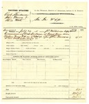 1878 August 06: Voucher, U.S. v. Arch Landrum, John Powers, and Steve Matt; served by J.C. Wilkinson, U.S. deputy marshal