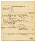 1878 October 11: Voucher, U.S. v. Joseph Heard and James White, larceny; includes cost of mileage, feeding two prisoner, and travel expenses; Claude Cox, posse comitatus; served by J.C. Wilkinson, U.S. deputy marshal