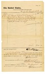 1878 August 2: Voucher, to J.E. Bennett, M.D.; includes cost of services rendered and medicine furnished for U.S. prisoners; Stephen Wheeler, clerk; D.P. Upham, U.S. marshal