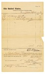 1878 October 2: Voucher, to James Clifford; includes cost of repairing and making shackles and repairing well buckets; D.P. Upham, U.S. marshal; Charles Burns, jailor; Stephen Wheeler, clerk