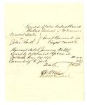 1878 August 1: Voucher, U.S. v. John Smith, escaped convict; D.P. Upham, U.S. marshal