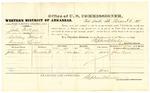 1878 August 2: Voucher, U.S. v. John Pultzer, violating internal revenue laws; John Ryan, witness; D.P. Upham, U.S. marshal; Stephen Wheeler, commissioner