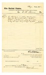 1878 August 3: Voucher, to C.M. Barnes; includes cost for attendance as U.S. marshal before U.S. district court; D.P. Upham, U.S. marshal