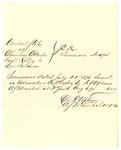 1878 August 6: Voucher, U.S. v. Columbus Crittenden, Noel Kelley, and Levi Folsom; D.P. Upham, U.S. marshal