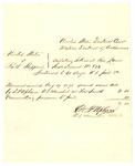 1878 August 19: Voucher, U.S. v. Ruth Sheppard, violating internal revenue laws; D.P. Upham, U.S. marshal