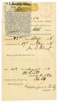 1878 August 19: Voucher, to James E. Brietz, publisher of the Fort Smith Weekly Herald; includes cost of published U.S. marshal's notice for U.S. v. 73 bottles distilled spirits in paper, attached; T.H. Roots, notary public; Voucher, U.S. v. 73 bottles distilled spirits, includes cost of storage for goods; Voucher, to Berry Stutchings in U.S. v. 73 bottles of distilled spirits, includes cost of hauling the property seized; C.M. Barned, witness to signatures; D.P. Upham, U.S. marshal