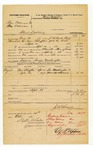 1878 October 14: Voucher, U.S. v. Ben Ackman and One Ackman, illicit distilling; includes cost of mileage, feeding one prisoner, and one guard; George Washington, guard; George Washington and Mout Hutchinson, witnesses; served by J.W. Searle, U.S. deputy marshal; D.P. Upham, U.S. marshal; Stephen Wheeler, clerk; James Brizzolara, commissioner