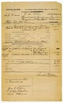 1878 November 1: Voucher, U.S. v. A.J. Hudson, violation internal revenue laws; includes cost of warrant and subpoenaed witnesses; Ed. Bizzell, L.L. Price, William Flannigan, and R.L. Chayton, witnesses; served by Samuel Walters, U.S. deputy marshal; Z.L. Cotton, commissioner; James Brizzolara, commissioner