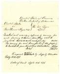 1878 September 4: Voucher, U.S. v. Two horses, One wagon, et.al; includes cost of caring for and feeding horses and for caring for and transporting the property; James H. Mershon, U.S. deputy marshal