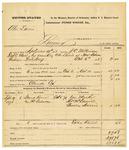 1878 October 16: Voucher, U.S. v. Abe Davis, larceny; includes cost of mileage, feeding one prisoner, and warrant; Claude Cox, posse comitatus; One Marker, Thomas McDaniel, and Charles Harris, witnesses; served by J.C. Wilkinson, U.S. deputy marshal; Stephen Wheeler, commissioner