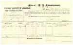 1878 September 21: Voucher, U.S. v. Robert L. Bishop, introducing whisky; includes costs of per diem and mileage; Lafayette Teel, witness; E.B. Harrison, commissioner; D.P. Upham, U.S. Marshal