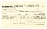 1878 September 24: Voucher, U.S. v. Zedick Kemp (alias Zedick Jackson), assault with intent to kill; includes costs of per diem and mileage; Richard Love, Thomas Logan, and Minnie Thompson, witnesses; John Paterson, witness to signatures; D.P. Upham, U.S. marshal; James Brizzolara, commissioner