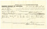 1878 September 26: Voucher, U.S. v. John M. Whalen, assault with intent to kill; includes cost of per diem and mileage; Herbert Cox and James Kenney, witnesses; D.P. Upham, U.S. Marshal; Stephen Wheeler, commissioner