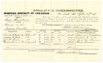 1878 September 27: Voucher, U.S. v. George Blackbird, murder; includes cost of per diem and mileage; Columbus F. Walker, Jackson W. Drake, Joel M. Bryan, and Theodore Clendennin, witnesses; D.P. Upham, U.S. marshal; Stephen Wheeler, commissioner