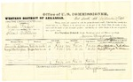 1878 September 27: Voucher, U.S. v. Enoch Raper, illicit distilling; includes cost of per diem and mileage; Henry M. Hutchinson and George Washington, witnesses; John Paterson and C.M. Barnes, witness of signatures; James Brizzolara, commissioner