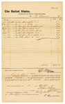 1878 October 2: Voucher, to P. Berman; includes costs of shirts, pants, and other clothing; Charles Burns, jailor; D.P. Upham, U.S. marshal; Stephen Wheeler, clerk