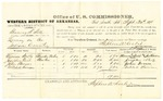 1878 September 30: Voucher, U.S. v. Chaney T. Bell, larceny in the Indian Country; includes cost of per diem and mileage; Minerva Stults, Josephus Nail, John Brown, and Michael Harrison, witnesses; John Paterson, witness of signatures; D.P. Upham, U.S. marshal; Stephen Wheeler, commissioner