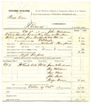 1878 October 26: Partial voucher, U.S. v. Bud Dean, larceny in the Indian Country; includes costs of mileage and warrant; Hugh Simpson, posse comitatus; James W. Anderson, Ben Williams, Sam Moss, John Hall, and George Vann, witnesses; served by John Williams, U.S. deputy marshal
