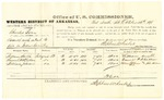 1878 October 12: Voucher, U.S. v. Charles Bray, assault with intent to kill in Indian Country; includes costs of per diem and mileage; William Smith, Samuel H. Stratton, and William Johnson, witnesses; D.P. Upham, U.S. marshal; Stephen Wheeler, commissioner