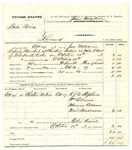 1878 October 18: Partial voucher, U.S. v. Babe Bird, larceny in the Indian Country; includes cost of warrant, mileage, and feeding one prisoner; R.J.B. Stephens, William Adams, Marine Adams, and Writ Henderson, witnesses; served by John Williams, U.S. deputy marshal; James Brizzolara, commissioner