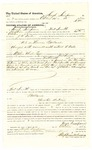 1878 October 29: Voucher, to Hugh Simpson, of Fort Smith, Arkansas, for assisting J.W. Searle, U.S. deputy marshal, in U.S. v. Thomas Ballard, assault with intent to kill; Stephen Wheeler, commissioner; D.P. Upham, U.S. marshal