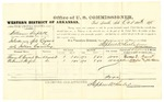 1878 October 14: Voucher, U.S. v. William Triplett, introducing spirituous liquors into Indian Country; includes cost of per diem and mileage; Thomas E. Beavert and Nathaniel Warford, witnesses; John Paterson, witness of signature; D.P. Upham, U.S. marshal; Stephen Wheeler, commissioner