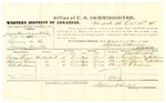 1878 October 14: Voucher, U.S. v. Joseph Heard and James White, larceny; includes cost of per diem and mileage; Calvin Brown, William Lamar, and H.R. Hickman, witnesses; John Paterson, witness of signatures; D.P. Upham, U.S. marshal; Stephen Wheeler, commissioner