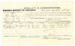 1878 October 15: Voucher, U.S. v. Abe Davis, larceny; includes cost of per diem and mileage; Charles Harris and W.H. Marker, witnesses; D.P. Upham, U.S. marshal; Stephen Wheeler, commissioner
