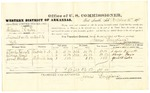 1878 October 15: Voucher, U.S. v. William R. Fox, assault with intent to kill; includes cost of per diem and mileage; Charles Devorto, Alonzo Hayes, and James Wheeler, witnesses; D.P. Upham, U.S. marshal; James Brizzolara, commissioner