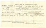 1878 October 15: Voucher, U.S. v. Henry M. Harrison, assault with intent to kill; includes cost of per diem and mileage; Bony Taylor, witness; John Paterson, witness of signature; D.P. Upham, U.S. marshal; Stephen Wheeler, commissioner