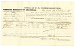 1878 October 16: Voucher, U.S. v. Basil H. Bolin, larceny in the Indian Country; includes cost of per diem and mileage; T.J. Mills and J.E. Turner, witnesses; D.P. Upham, U.S. marshal; Stephen Wheeler, commissioner
