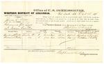 1878 October 16: Voucher, U.S. v. James C. Trott, introducing spirituous liquors; includes cost of per diem and mileage; Harding H. Trott and William T. Beatty, witnesses; D.P. Upham, U.S. marshal; Stephen Wheeler, commissioner