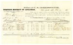 1878 October 17: Voucher, U.S. v. David Jones, larceny; include cost of per diem and mileage; T.E. Fulsom, Durant Jackson, Henry Chalk, and Martin Vincent, witnesses; John Paterson, witness of signatures; D.P. Upham, U.S. marshal; Stephen Wheeler, commissioner