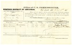 1878 October 18: Voucher, U.S. v. George Gardner, larceny in the Indian Country; includes cost of per diem and mileage; Cephus Foreman and Albert Reynolds, witnesses; C.M. Barnes, witness of signatures; D.P. Upham, U.S. marshal; Stephen Wheeler, commissioner