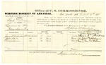 1878 October 19: Voucher, U.S. v. Bud Dean, larceny in the Indian Country; includes cost of per diem and mileage; James W. Anderson, John Hall, and George Vann, witnesses; C.M. Barnes, witness of signatures; D.P. Upham, U.S. marshal; Stephen Wheeler, commissioner