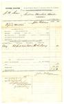 1878 October 26: Voucher, U.S. v. J.N. Garber; includes cost of subpoenaed witness; Thomas E. Lacey, witness; served by John Williams, U.S. deputy marshal; Stephen Wheeler, clerk