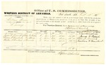 1878 October 19: Voucher, U.S. v. William Brown, larceny; includes cost of per diem and mileage; James W. Peacock, William H. Bourland, and Reuben R. Bourland, witnesses; D.P. Upham, U.S. marshal; Stephen Wheeler, commissioner