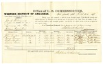 1878 October 22: Voucher, U.S. v. Jack Williams, larceny in the Indian Country; includes cost of per diem and mileage; John Taylor, Henry Shannon, Arthur Martin, and Lewis Davis, witnesses; John Paterson, witness of signatures; D.P. Upham, U.S. marshal; Stephen Wheeler, commissioner; William H.H. Clayton, U.S. attorney