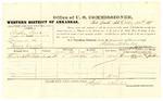 1878 October 25: Voucher, U.S. v. Austin Dand, larceny; includes cost of per diem and mileage; Thomas Benton, witnesses; John Paterson, witness of signatures; D.P. Upham, U.S. marshal; Stephen Wheeler, commissioner