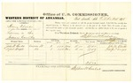 1878 October 25: Voucher, U.S. v. Henry Chalk, larceny; includes cost of per diem and mileage; John W. Burks and Alfred Wright, witnesses; D.P. Upham, U.S. marshal; Stephen Wheeler, commissioner