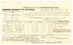 1878 October 28: Voucher, U.S. v. William Martin, larceny; includes cost of per diem and mileage; E.J. Dunagan, Sam T. Davis, J.S. Forrest, John Kittle, and Samuel Brookers, witnesses; John Paterson, witness of signatures; D.P. Upham, U.S. marshal; Stephen Wheeler, commissioner; George A. Grace, U.S. district attorney