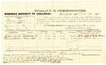 1878 October 29: Voucher, U.S. v. Thomas Raper, larceny in the Indian Country; includes cost of per diem and mileage; Jackson Smith and Thomas S. Hutton, witnesses; John Paterson, witness of signatures; D.P. Upham, U.S. marshal; Stephen Wheeler, commissioner; William H.H. Clayton, U.S. attorney