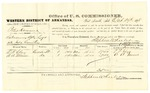 1878 October 29: Voucher, U.S. v. Peter Hammer, introducing spirituous liquors; includes cost of per diem and mileage; T.F. Clay and A.A. Muse, witnesses; D.P. Upham, U.S. marshal; Stephen Wheeler, commissioner