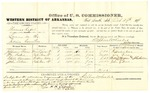 1878 October 29: Voucher, U.S. v. Thomas Raper, larceny; includes cost of per diem and mileage; Jefferson Pean, William Fisher, Chilly Morgan, and John Gibson, witnesses; John Paterson, witness of signatures; D.P. Upham, U.S. marshal; Stephen Wheeler, commissioner; William H.H. Clayton, U.S. attorney