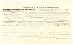 1878 October 30: Voucher, U.S. v. Sam Five Killer, larceny; includes cost of per diem and mileage; George Davis, witness; John Paterson, witness of signature; D.P. Upham, U.S. marshal; James Brizzolara, commissioner
